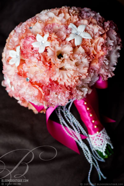 A Pink and Bling Wedding
