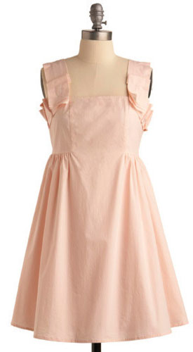 Rose Colored Classy Dress