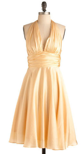 Hello, Marilyn Dress in Peach