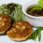 Recipe ::  Water Chestnut Chicken Patties, Wood Ear Mushroom Ginger Sauce