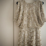 Wren Sequined Open Back Kimono Dress