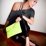 Tocco Tenero Neon Leather Clutch [Part Deux]