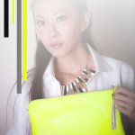 Tocco Tenero Neon Leather Clutch [Part Un]