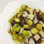 Recipe :: Brussels Sprouts with Caramelized Onions and Shaved Parmesan