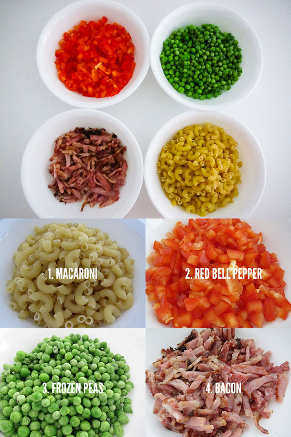 Recipe :: Quick and Easy Macaroni Stir Fry with Bacon and Peas   Singapore Top Lifestyle Blogger Moonberry