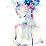 Hauntingly Beautiful Watercolor Portraits by Agnes-Cecile
