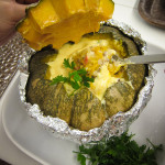 Recipe :: Baked Pumpkin Brown Rice with Seafood and Cream Sauce