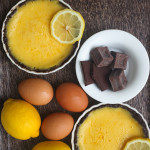 Recipe :: Lemon Creme Brulee Tart with Chocolate Crust