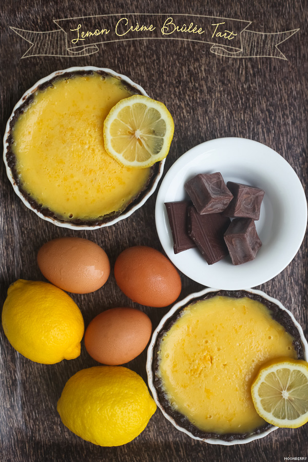 Recipe :: Lemon Creme Brulee Tart with Chocolate Crust | The Moonberry ...
