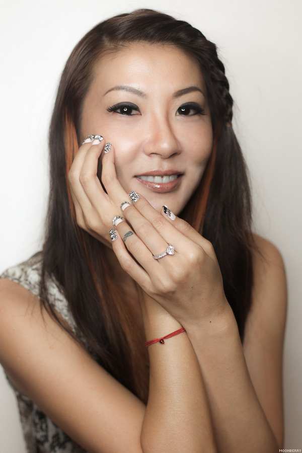 Lace & Corset Manicure from Millys Nails   Singapore Top Lifestyle Blogger Moonberry