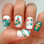 Holiday Manicure with Christmas Nail Art Design by Milly's Hair Lashes Nails