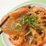 Recipe :: Steamed Sakura Prawns with Ginseng and Goji Berries