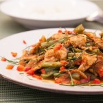 Recipe :: Prik Khing Thai Stir Fried Curried Pork and Green Beans