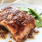 Recipe :: Mustard Brown Sugar Glazed Salmon
