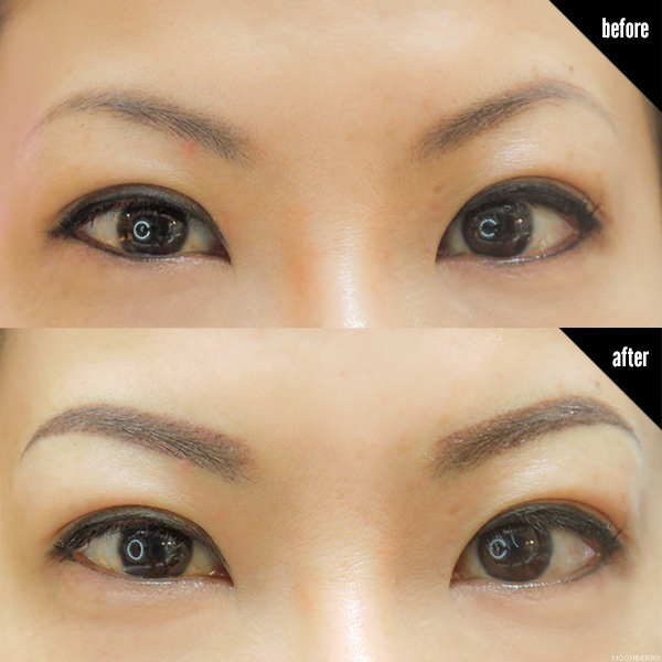 Eyebrow embroidery shape makaroka