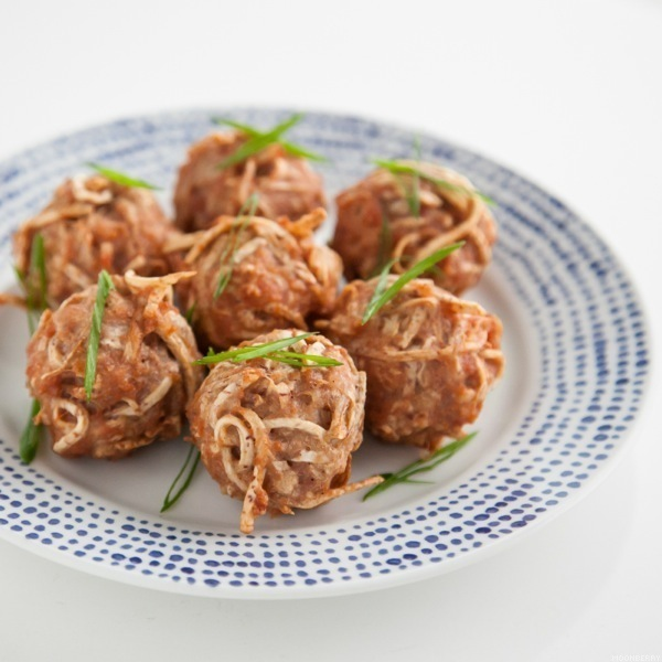 Shredded Taro Meatballs Recipe