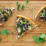 Recipe :: Caramelized Onion and Leek Tart with Lup Cheong