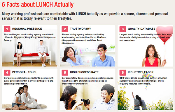 go to lunch dating service