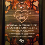 Sear Valentine's Day Menu