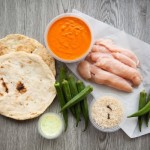 Butter Chicken with Naan, Okra, and Cloved Basmati
