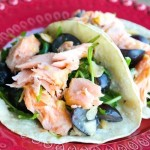 Recipe :: Miso Salmon Taco with Kyoho Grapes Rocket Salad